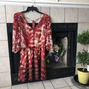 Jessica Simpson Printed Dress Size Medium